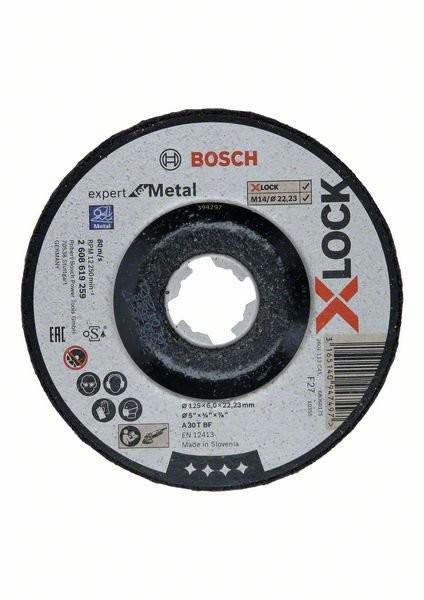 Bosch X-LOCK Expert for Metal 125 x 6 x 22,23 Schruppscheibe gekröpft (2608619259)