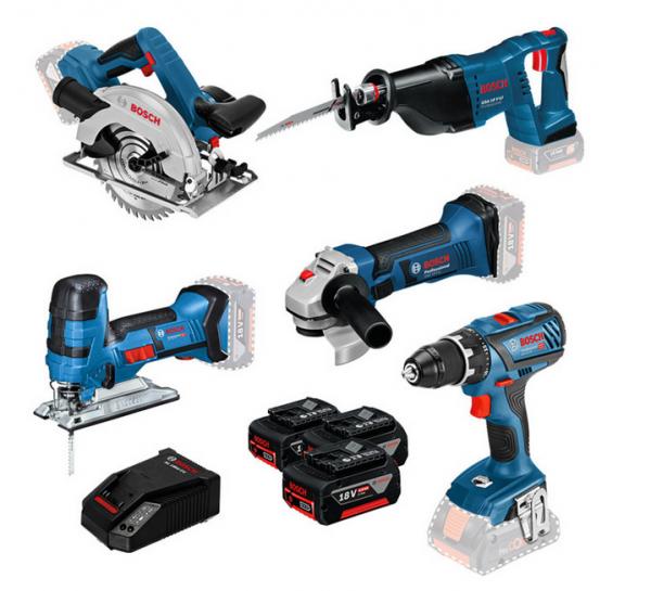 Bosch Professional Akku-Maschinenset (0615990K6N)