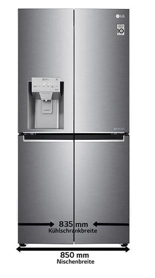 LG GML844PZKZ Side-by-Side Kühlschrank, edelstahl