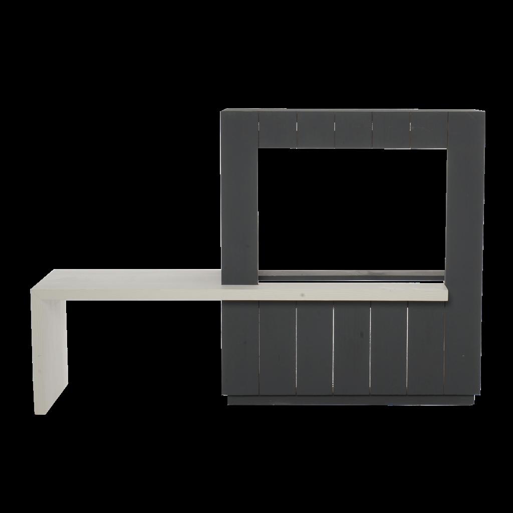 Gimeg Livin´flame Memphis Kaminverkleidung + Sitzbank