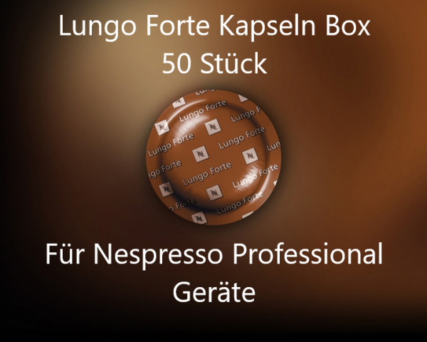 Nespresso Pro Kapseln Pads - 50x Lungo Forte