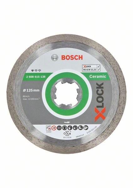 Bosch X-LOCK Diamanttrennscheibe Standard for Ceramic 125 x 22,23 x 1,6 x 7 (2608615138)