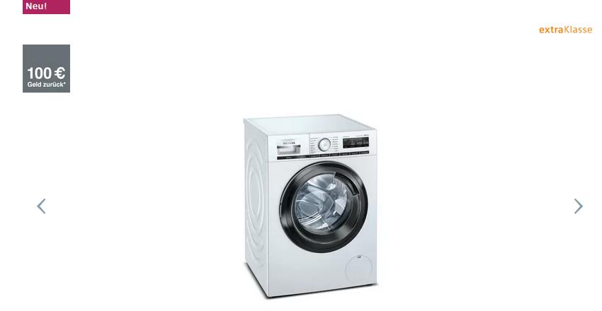 Siemens WM14VMS5AT iQ700 Waschmaschine, Frontlader 9 kg 1400 U/min