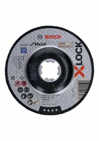 5 Stück Bosch X-LOCK Expert for Metal 125 x 2,5 x 22,23 Trennscheibe gekröpft (2608619257)
