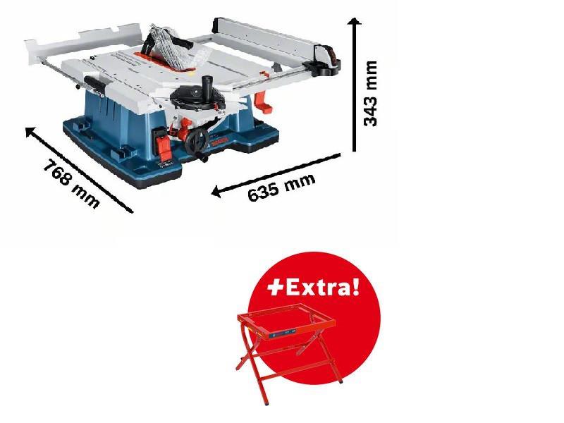Bosch Professional Bosch GTS10XC (0615990EM9) Tischkreissäge inkl. Arbeitstisch GTA6000