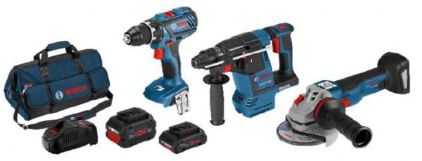 Bosch 3tlg. Profi-Set GSR + GWS + GBH (0615990L51)