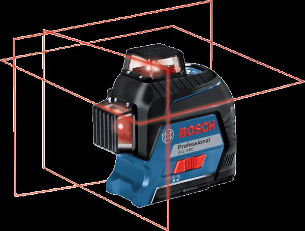 Bosch GLL 3-80 Linienlaser + Alkaline + HwKoffer (0601063S00)